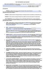 Simple Rental Agreement Standard Lease Agreement Template