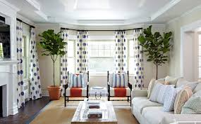 room curtain living room beach style with polka dot curtains tray ceiling white sofa