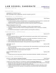 Law School Admissions Resume Template Word