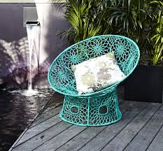 moroccan outdoor furniture. Remarkable Great And Amazing Moroccan Outdoor Furniture : Blue Soft Hanging Chair Also With White Pillows R