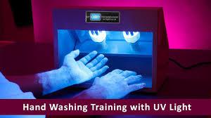 Blue Light Germ Detector Hand Washing Training With Uv Light Youtube