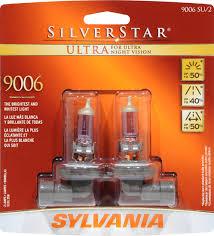 Sylvania Headlight Bulb Comparison Chart Silverstar Vs