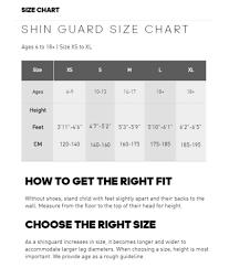 Adidas Shin Guard Size Chart Best Picture Of Chart