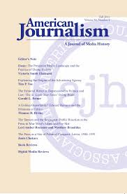 american journalism a journal of media history fall 2017 issue