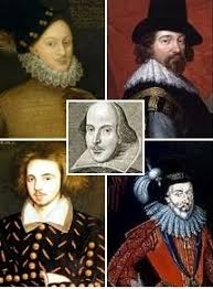 shakespeare authorship question  portraits of shakespeare and four proposed alternative authors