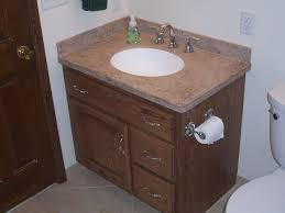 Handmade Custom Oak Bathroom Vanity And Linen Cabinet By Jeffrey - Oak bathroom vanity cabinets