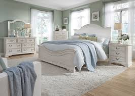Liberty Furniture Bayside Panel Bedroom Set in Antique White by ...