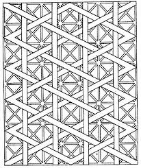 Coloring Geometric Coloring Pages Free Pattern Geometric Coloring