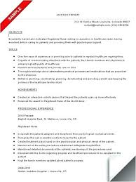Resume Example Objective Statement For Nursing Resume Resume