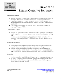 Example Of A Resume Objective Resume For Your Job Application