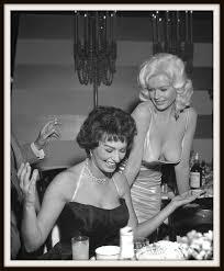 Another shot of the famous Sophia Loren Jayne Mansfield dinner.
