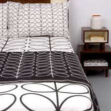orla kiely double duvet cover set linear stem graphite
