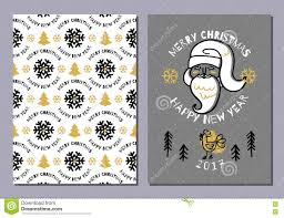 template of holiday postcard new year card stock vector trendy postcard merry christmas happy new year 2017 holiday card royalty stock image