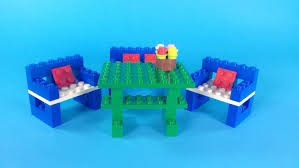 Lego Furniture How To Make Lego Furniture Table Chairs 10664 Lego Bricks And