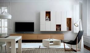 Wall mounted sideboard contemporary wooden lacquered wood