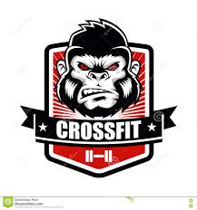 Emblem Design Gorilla Fitness Gym And Sport Club Logo Emblem Design Stock
