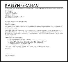 sales team leader cover letter sample team leader cover letter sample