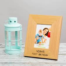 personalised baby first birthday memory photo frame