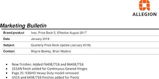 Ives 2018 Price Book Q1