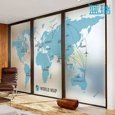 office sliding window. Wonderful Sliding Lan Rui Art Frosted Film Office Sliding Door Window Transparent Opaque  Electrostatic Film World Map For Sliding Window R
