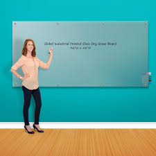 whiteboards bulletin boards whiteboards frosted glass dry erase board 96 x 48 695468 globalindustrial com