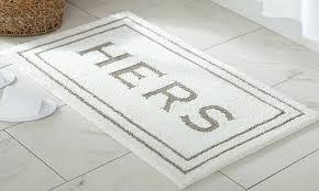 mohawk bath mat knitted his or hers mats memory foam indigo