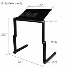 furinno adjule vented laptop table portable bed tray book stand