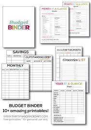 Budget Forms To Print Inspirational Printable Bud Binder