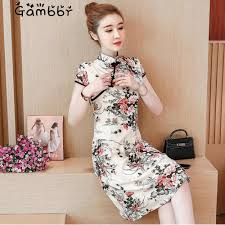 <b>2019</b> Summer Modern <b>Cheongsam</b> Women Short <b>Lace Qipao</b> ...