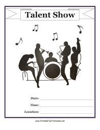 Talent Show Flyer Template Rome Fontanacountryinn Com