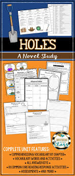 best ideas about louis sachar holes book holes novel study unit comprehension vocabulary activities tests