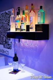 architecture lighted bar shelves invigorate com 3 led floating shelving with integrated regard to