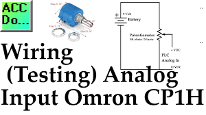 wiring testing analog plc input omron cp1h youtube omron plc training online free at Omron Plc Wiring Diagram