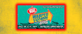 Warped Tour Seating Chart Vans Warped Tour 2 Day Pass Tickets 20th July