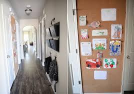 hallway cork wall