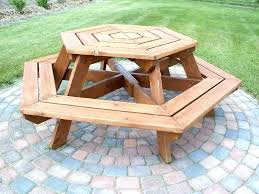 wooden picnic tables with detached benches round table plans make a discover wood umbrella benc wood picnic table plans