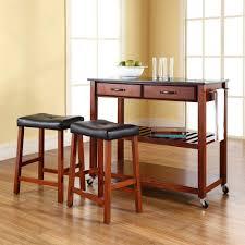 Kitchen Carts With Granite Top Crosley Cherry Kitchen Cart With Black Granite Top Kf300544ch