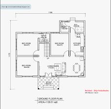 1 bedroom house plans kerala style beautiful kerala style single floor house plan 1155 sq ft