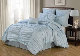 light blue ruffle bedding baby blue bedding sets bed set easy sheet on navy blue comforter