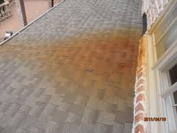 rust stains on shingles