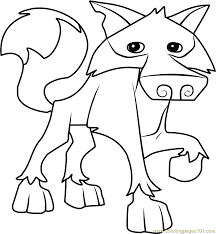 Small Picture Wolf Animal Jam Coloring Page Free Animal Jam Coloring Pages
