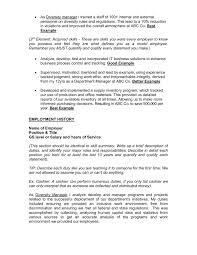 List Of Skills For Employment Federal Resume Template Pdf 52kb U S Food Pages 1