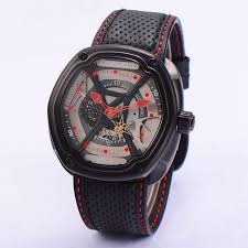 <b>Corgeut 46mm</b> Mens Automatic Watch Black PVD Coated Case ...