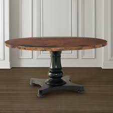 54 round copper top dining table bassett home furnishings