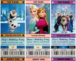 jennuine by rook no movie ticket style frozen party movie ticket style frozen party invitations and 20 ideas for the ultimate frozen party