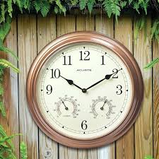 outdoor clock with thermometer outdoor clock thermometer matching set