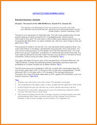 Executive Summary Example Art Resume Examples