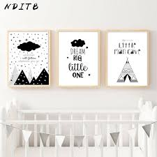 nditb cartoon nursery quote canvas art posters prints painting black white wall picture for children boy living room decoration a samuelk me