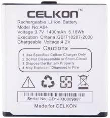 CELKON a27 1400 mAh Li-ion Battery for ...