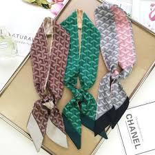Designer Silk Scarves 2019 Hot Sale Luxury Designer Silk Scarf Classic Vintage Ladies Printed Silk Scarves Can Be Used As Hair Accessories For Bags 6 95cm